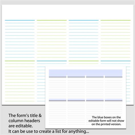 Landscape Forms Terms And Conditions 8 Column List In Landscape 8 1 2 X 11 L Legacy Templates