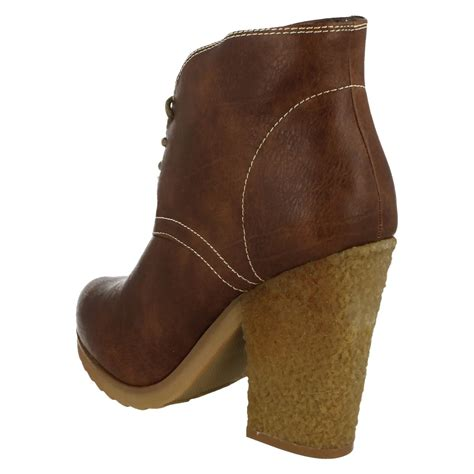 Lace Up Chunky Heel Ankle Boots to earth chunky heel lace up ankle boot