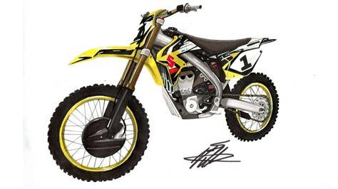 Motorrad Videos Cross by Realistic Motocross Bike Drawing Suzuki Rm Z Ws Time