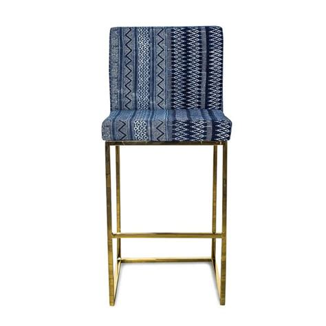 pattern fabric counter stools bar stool in indigo mudcloth pattern modshop