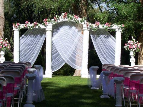 easy to make outdoor decorations garden wedding ideas decorations outdoor weddings