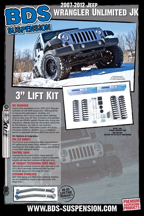 jeep poster road lift kit posters bds suspension