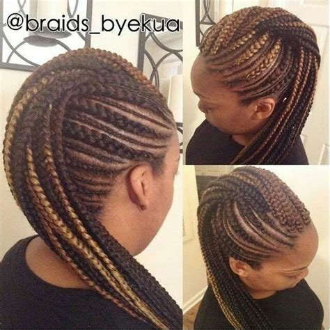 Mohawk Braid Hairstyle by Braided Mohawk Hair Crushin Braided Mohawk