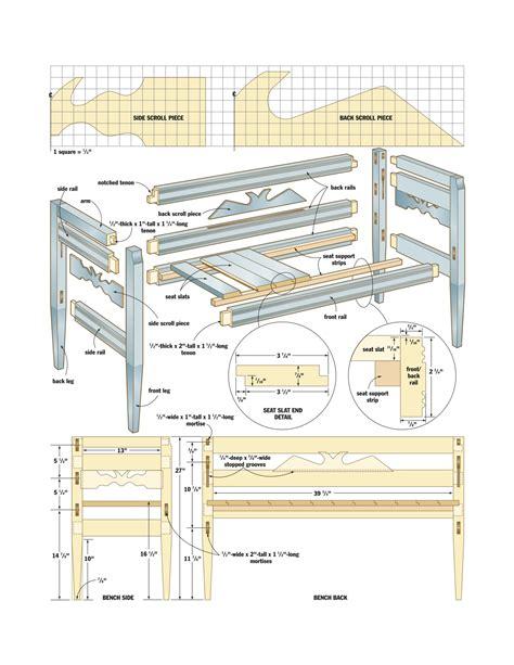 woodwork joiners bench plans diy blueprint plans