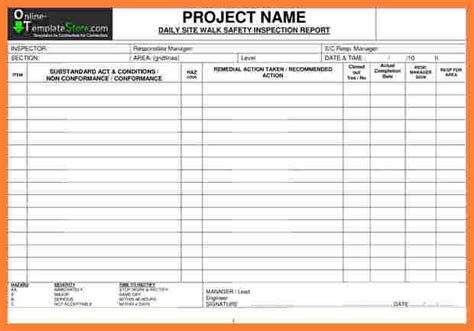 9 construction inspection report template progress report