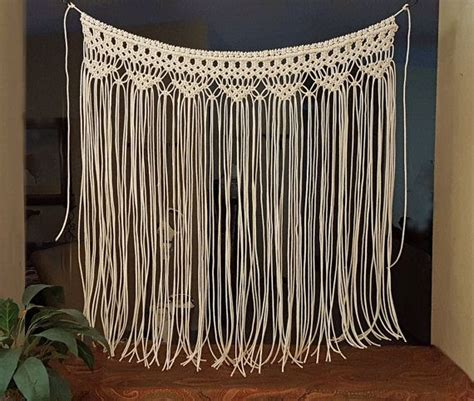 Wedding Arch Curtains by Macrame Wall Hanging Large Bohemian Window Covering