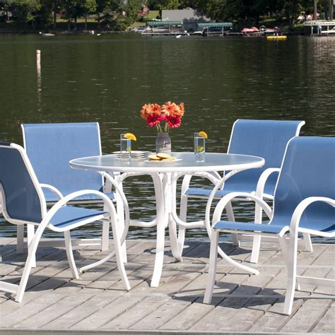 telescope casual aruba ii 4 person sling patio dining set