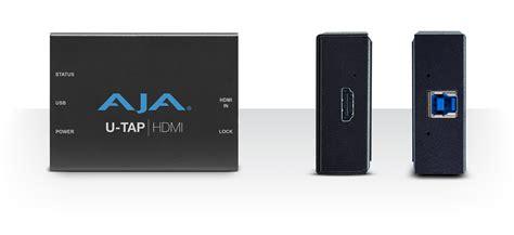 Aja U Tap Hdmi aja announces u tap usb 3 0 capture devices top stories news aja systems