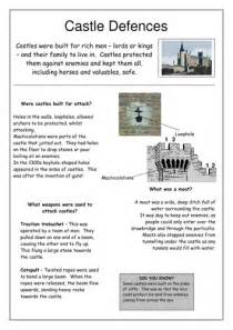 Non Chronological Report Template non chronological report castle defences by maddieeves