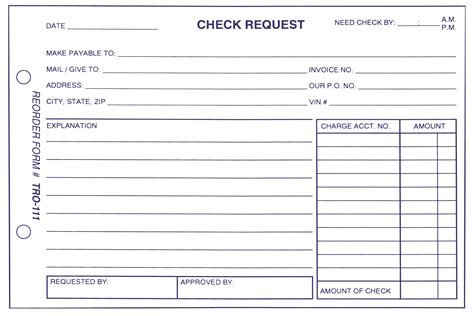6 Check Request Form Template Excel Cio Resumed Check Request Form Template