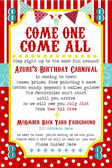 carnival party flyer simplycumorah carnival party behind the scenes
