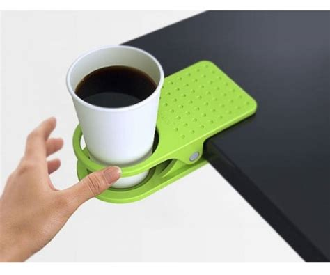 clip on cup holder for desk desk cup holder 187 gadget flow