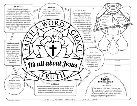 5 Solas Coloring Page by Lutheran To Print Gifts Faith Word