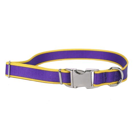 yellow collars sterling stripes collection purple and yellow collar by yellow design