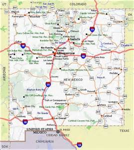 Texas New Mexico Map by New Mexico Movie Poster Dealers Amp Travel Map