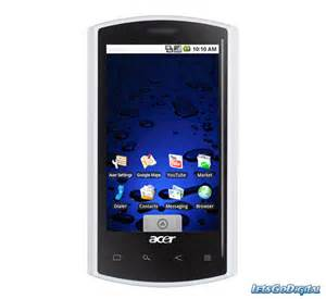 Android Phone Android Smartphone From Acer Letsgodigital