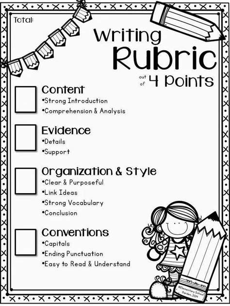 Grade 1 Essay Writing by Best 25 Writing Rubrics Ideas On Writing Checklist Grade Writing And Writing