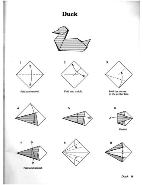 How To Make A Paper Duck Step By Step - origami origami duck terrific origami duck