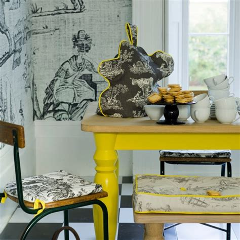 yellow dining room table grey and yellow colour schemes housetohome co uk