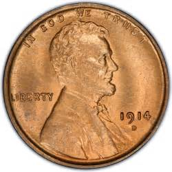 1914 lincoln wheat pennies values and prices past sales
