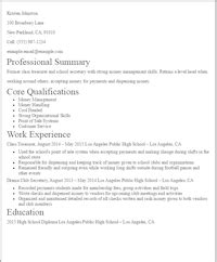 resume sle for accounting students with no experience eye grabbing no experience resumes sles livecareer