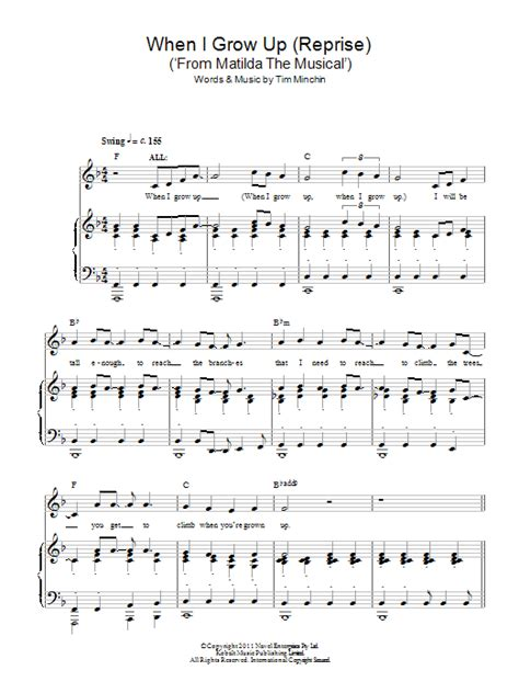 printable lyrics to naughty when i grow up reprise from matilda the musical