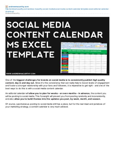 Social Media Content Calendar Template Excel Marketing Editorial Ca Social Media Editorial Calendar Template Excel