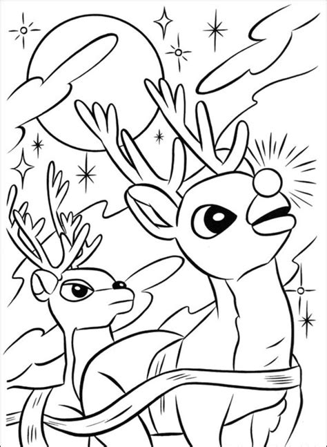 santa coloring pages with rudolph santa claus and the red nose rudolph reindeer coloring pages
