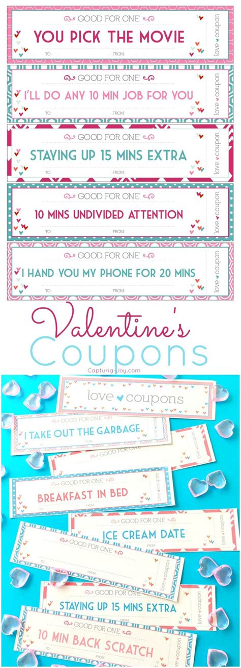 valentine s day coupons pinterest valentines diy