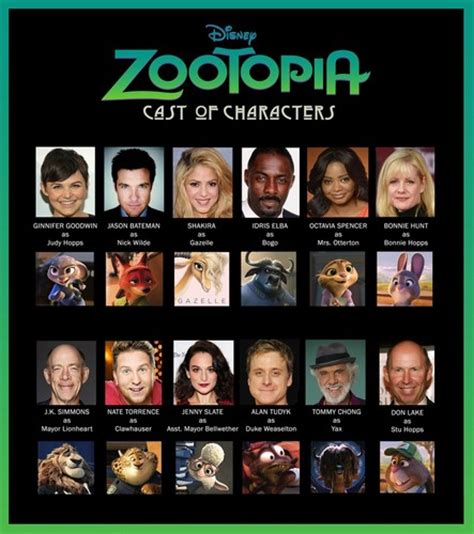 voices of books disney s zootopia images zootopia cast of characters hd