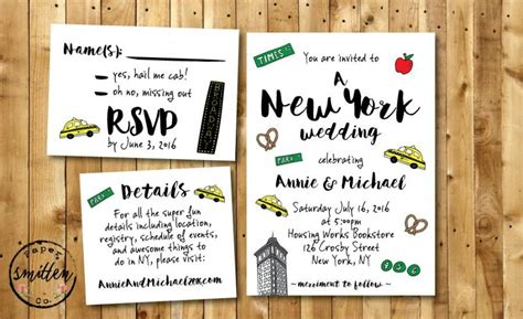Nyc Themed Wedding Invitations by New York Themed Wedding Invitations Uk Wedding Ideas