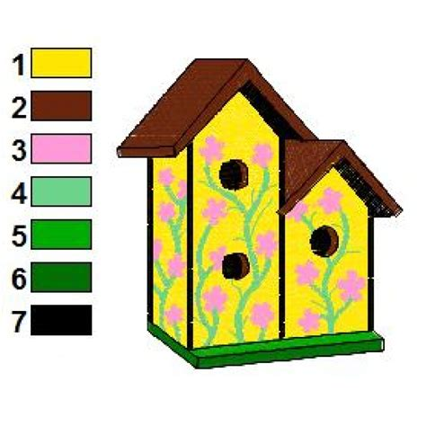 house embroidery design bird house 14 embroidery design