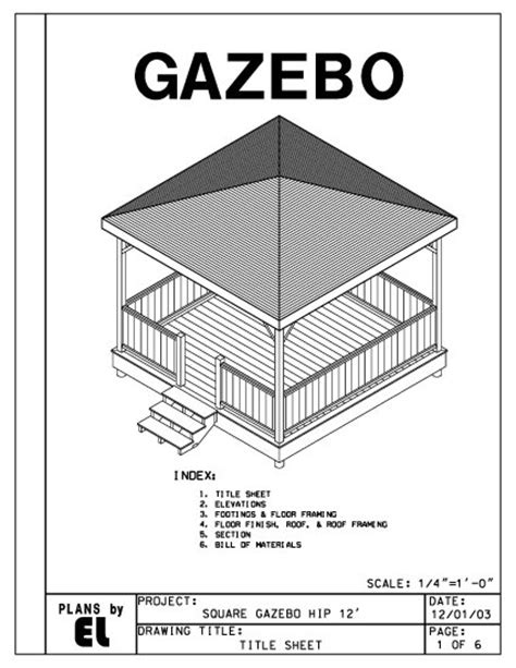 do it yourself building plans 4 sided gazebo hip roof building plans blueprints 12 do