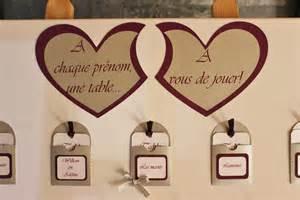Plan De Table Coeur Mariage