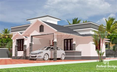 single floor house plans kerala style sloped roof single floor home kerala home design