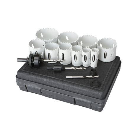 Promo Holesaw Kit Saw Kit Set 13 Pcs Mata Bor Pelubang Kayu Pipa 3 4 in 2 1 2 in bi metal saw assorted set 14 pc