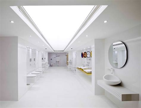 Modern Bathroom Los Angeles Showroom Nu De Interpolates Crystalline Forms On Emporio Showroom