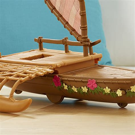 moana figures with boat disney moana starlight canoe and friends buy online in