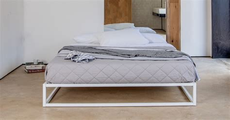 platform bed no headboard mondrian metal platform bed no headboard get laid beds