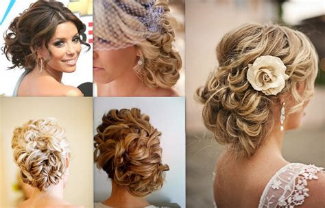 Wedding Hairstyles With Side Buns and modern wedding hairstyles curly side bun elite