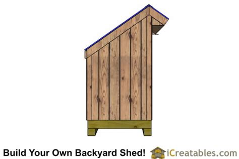 4 X 8 Garden Shed Plans by 4x8 Firewood Shed Plans Outdoor Garden Sheds Icreatables