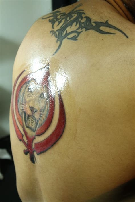 khanda lion tattoo designs khanda designs