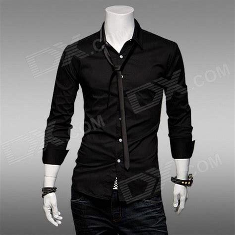 Dx Black Shirt s slim fit sleeve shirt black size l free