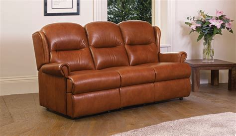 small leather settee malvern small leather fixed 3 seater settee sherborne