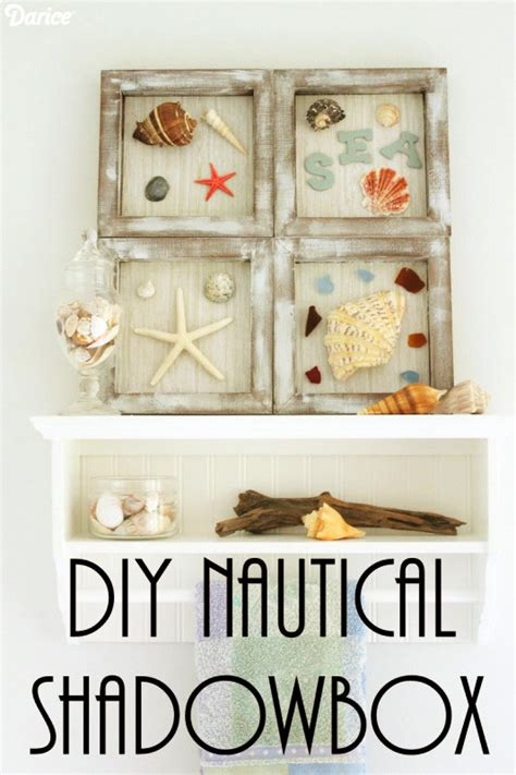 diy nautical decor themed shadowboxes