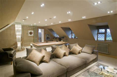 Lighting For Loft Ceilings by Billiard Table In Loft Vaulted Ceiling