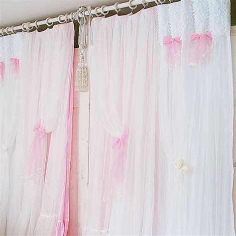 lace bedroom curtains aliexpress com buy princess white pink curtain lace