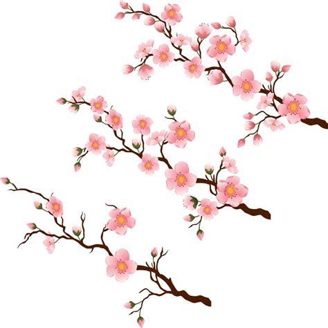 rami di fiori carta da parati ramo di fiori di ciliegio in 3 fasi