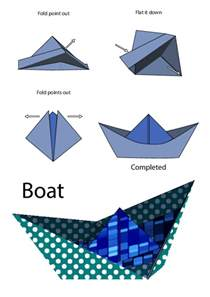 How To Make A Simple Paper Boat - easy origami boat kidspressmagazine