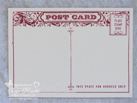 Handmade Postcards - handmade vintage postcard